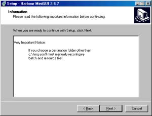 HMG 2.6.7 Instalação - Segundo Passo